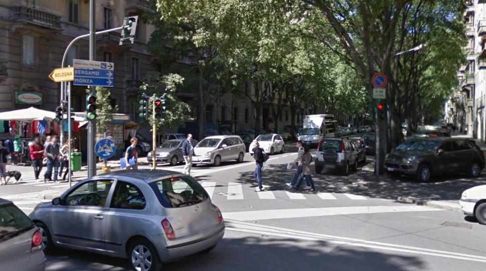 Rotatorie con semafori a Milano