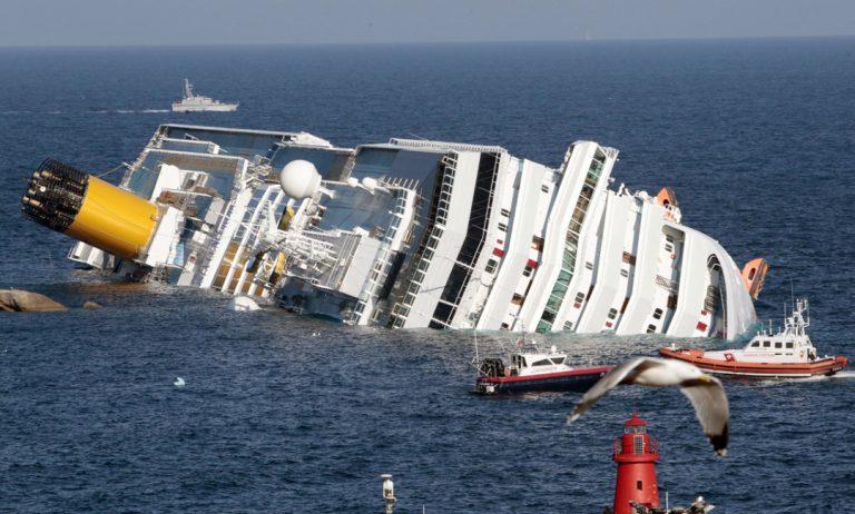 Costa Concordia dopo l'incidente